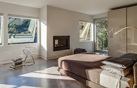 View In Gallery Exquisite Master Bedroom With A Sleek Fireplace