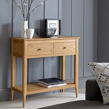 wardle wooden console table in crafted