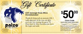 Paizo Com Gift Certificates