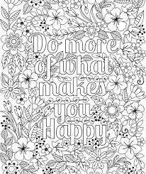 Small Picture Printable Do More of What Makes You Happy flower design coloring