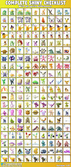 Complete Shiny Checklist With All 179 Sprite Differences