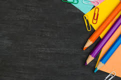 School Chalkboard Background School Supplies Side Border On A Chalkboard Stock Photo Image Of