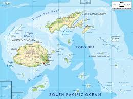 physical map of fiji  ezilon maps