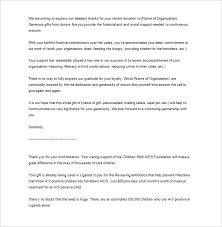 Thank You Letter For Donations Awesome Sample Business Thank You Letter 48 Free Word Excel PDF Format