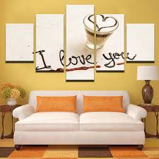 Canvas Wall Art Quotes Amazing Modular Pictures Frame 48 Pieces I Love You Coffee Love Quotes Poster