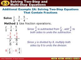 method 1 use fraction operations