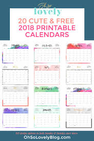 calendar 2018 free printable your free 2018 printable calendars today there are 28 designs to