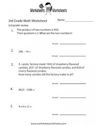 Math Worksheets Third Grade Free Printable Practice Worksheet For ...