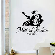 Michael Jackson Wallpaper For Bedroom Aliexpresscom Buy Removble Michael Jackson Sketch Wall Stickers
