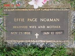 Forest Hills Memorial Cemetery, [EFFIE PAGE NORMAN]