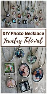 diy photo necklace tutorial easy thumbprint heart necklace