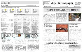 Creating A Newspaper Template Four Page Folding Newspaper Template Instant Download For Unlimited Use In Ms Word