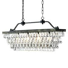 rectangular crystal chandelier bronze 4 light antique dining room with b