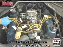 carburetor removal video holley carb install tuning dvd