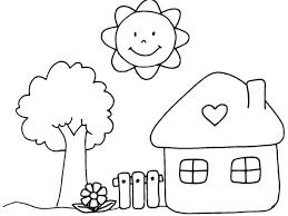 Disegno Di Casetta In Campagna Da Colorare Per Bambini Con Case Da