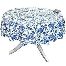 round cotton tablecloth blue round tablecloth round blue cotton coated french by blue tablecloths for round cotton tablecloth