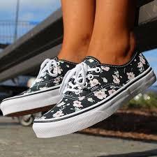 vans shoes black and white 2016. vintage floral authentic vans shoes black and white 2016