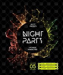 Backgrounds For Posters Free Night Disco Party Poster Background Vector Illustration Of
