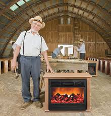 Amish Heat Surge Electric Fireplace Heater FirelessFlameless Amish Fireless Fireplace