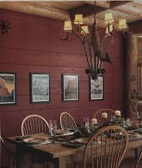 painting full log walls inside the