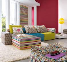 Maroon Living Room Furniture Sweet Colorful Living Room Furniture With Candy Sofa Set Design