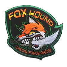Patches with hook back Metal Gear Solid <b>Foxhound</b> Military <b>special</b> ...