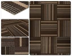 dark brown stripe laying carpet tiles without glue how to install tile in 7 easy steps