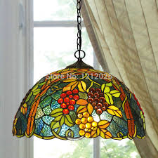 Exceptional Lustre Tiffany Style Grape Pendant Lamp Dinning Light Bedroom Kitchen  Stained Glass Lampshade Vintage Hanging Lamps ... Pictures Gallery