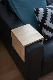 custom couch arm table premium plywood by couchmate