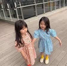 Mùa Hè Năm 2020 Mới Xuất Hiện Thời Trang Bé Gái Hàn Quốc Thiết Kế Đầm Họa  Tiết Hoa Trẻ Em Cotton Đầm Bé Gái|Váy