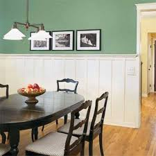 wainscoting dining room. Dining Room Wainscoting With Green Walls