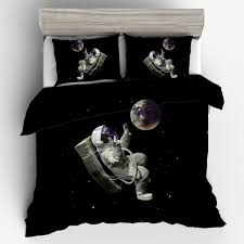 bed set duvet cover 3d outer space bedding set twin full queen king size quilt cover pillow king comforter set matelasse bedding from kuaikey