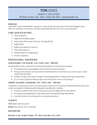 Graphic Design Resume Examples Interesting Lead Graphic Designer Resume Example Digital Media Video