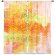 Peach Bedroom Curtains Pastel Orange Pink Peach Green Art Window Curtains Multiple