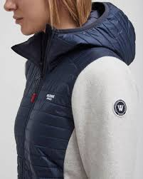 Elvira Hood WP - Knitted windproof hood jacket in wool blend with water  repellent material - Holebrook