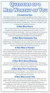 qualities of a godly man relationally relevant qualities of a godly man