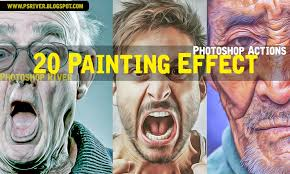 20 painting effect photo actions free