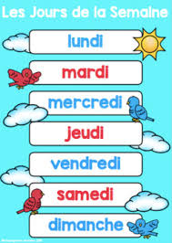 French Days Of The Week French Days Of The Week And Months Of The Year Posters