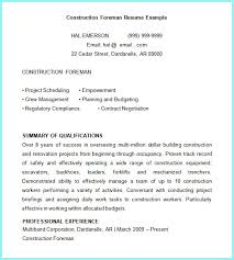 Free Construction Resume Templates Free Construction Superintendent Resume Templates Resume Resume