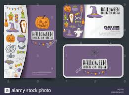Halloween Gift Cards Halloween Poster And Cards Design For A Party Invitation