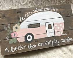 wood sign glass decor wooden kitchen wall: a smaller version of our popular vintage camper sign this sign is approximately  x  and features stained wood with distressed edges