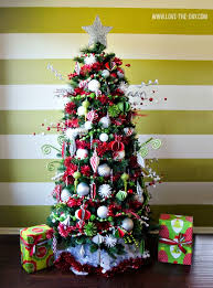 Green and Red No Lights Christmas Tree from Love the Day plus 31 Christmas  Tree Designs