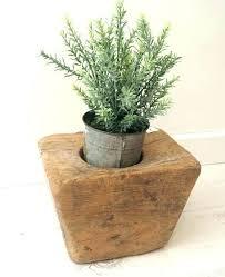 plant pot holders diy wooden pots rustic stand outdoor