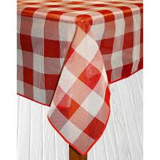 round red vinyl and poly tablecloth