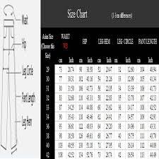 Mens Pants Size Chart Inches To Cm Miuk 2017 New Large Size Cotton Men Pants 42 40 Brand