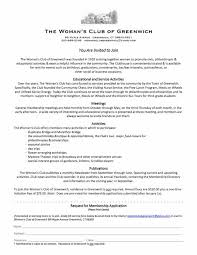 Application For Membership Membership Application Womans Club Of Greenwich