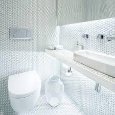 O  Small Hexagon Porcelain Tile White Shiny NONSLIP  Washroom Wall Tiles Shower