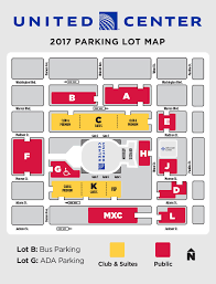 united center seating diagram and parking  chicago bulls