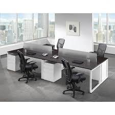 Modern Basic Workstation Desk Set (4) Bridgecreek Office Pertaining To  Elegant House Work Station Desk Ideas