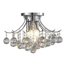 ove warsaw crystal chandelier in chrome